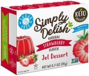 Simply Delish Strawberry Jel Dessert G/F 20g