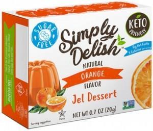 Simply Delish Orange Jel Dessert G/F 20g