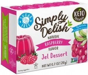 Simply Delish Raspberry Jel Dessert G/F 20g