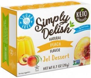 Simply Delish Peach Jel Dessert G/F 20g