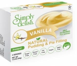 Simply Delish Vanilla Natural Pudding & Pie Filling G/F 44g