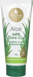 Aloe Vera Aloe 98% Pure Gel Tube 100g