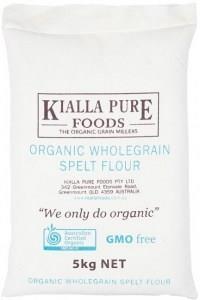 Kialla Organic Wholegrain Spelt Flour (Calico Bag) 5Kg
