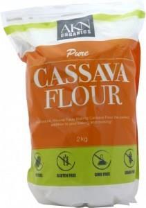 AKN Organics Pure Cassava Flour G/F 2Kg