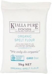 Kialla Organic Spelt Flour (Calico Bag) 5Kg