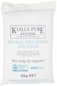 Kialla Organic Flour wholegrain in Rye 5Kg