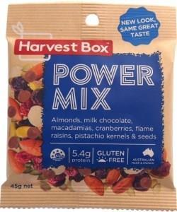 Harvest Box Power Mix, Dried Fruit & Nut w/Milk Chocolate G/F 45g