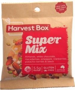 Harvest Box Super Mix, Dried Fruit & Nut w/White Chocolate G/F 45g