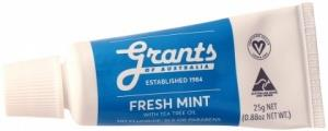 Grants Natural Fresh Mint with Tea Tree Oil Mini Toothpaste 25g
