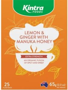 Kintra Foods Lemon & Ginger with Manuka Honey Tea 25Teabags