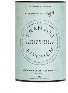 Franjo's Kitchen G/F Choc Chip Tanker Topper Lactation Biscuits 252g