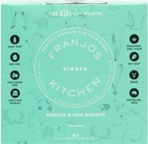 Franjo's Kitchen Vanilla & Chia Kinder Biscuits 144g
