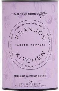 Franjo's Kitchen Choc Chip Tanker Topper Lactation Biscuits 252g