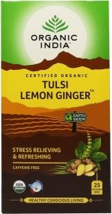 Organic India Tulsi Lemon Ginger Tea 25Teabags
