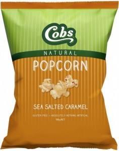 Cobs Natural Popcorn Sea Salted Caramel G/F 12x100g
