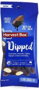 Harvest Box Dipped (Almonds Lightly Dipped in Dark Chocloate) G/F 40g