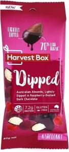 Harvest Box Dipped (Almonds Lightly Dipped in Raspberry-Dusted Dark Chocolate) G/F 40g