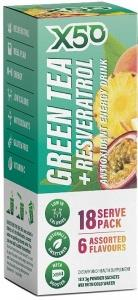 X50 Green Tea + Resveratol Assorted 6 Flavour 18 Sachets