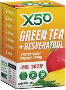 X50 Green Tea + Resveratol Mango 30 Sachets