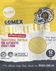 Diego's GoMex Yellow Corn Tortilla 12Pack G/F (276g)