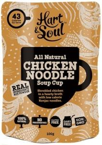 Hart & Soul All Natural Chicken Noodle Soup Cup Sachet G/F 100g