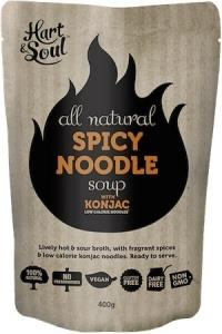 Hart & Soul All Natural Spicy Noodle with Konjac Soup Pouch G/F Vegan 400g