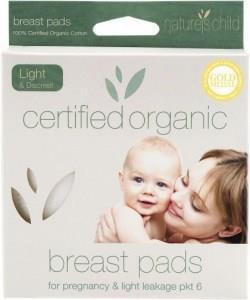 Natures Child Organic Cotton Reusable Breast Pads Light Discreet Pkt 6