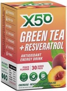 X50 Green Tea + Resveratol Peach 30 Sachets