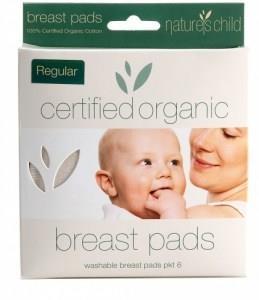 Natures Child Organic Cotton Reusable Breast Pads Pkt 6 Regular