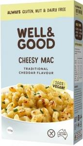 Well And Good Cheesy Mac Traditional Cheddar Flavour G/F 110g