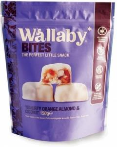 Wallaby Bites Yoghurt Orange Almond & Coconut G/F 150g