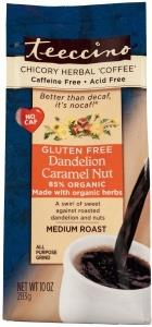 Teeccino Chicory Herbal Coffee Org All Purpose Grind Dandelion Caramel Nut Med Roast G/F No Caf 284g