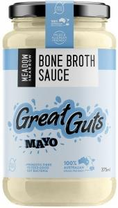 Meadow & Marrow Bone Broth Sauce Great Guts Mayo G/F 375ml