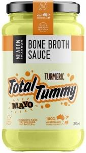 Meadow & Marrow Bone Broth Sauce Total Tummy Turmeric Mayo G/F 375ml