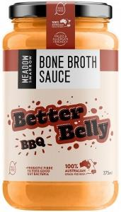 Meadow & Marrow Bone Broth Sauce Better Belly BBQ G/F 375ml