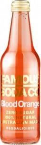 Famous Soda Co Sugar Free All Natural Blood Orange Soda 330ml