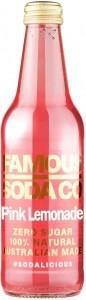 Famous Soda Co Sugar Free All Natural Pink Lemonade Soda 330ml
