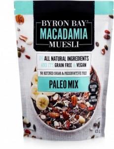 Byron Bay Macadamia Muesli Gluten Free Paleo Mix Raw 425g