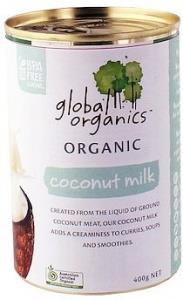 Global Organics Coconut Milk G/F 400g Can