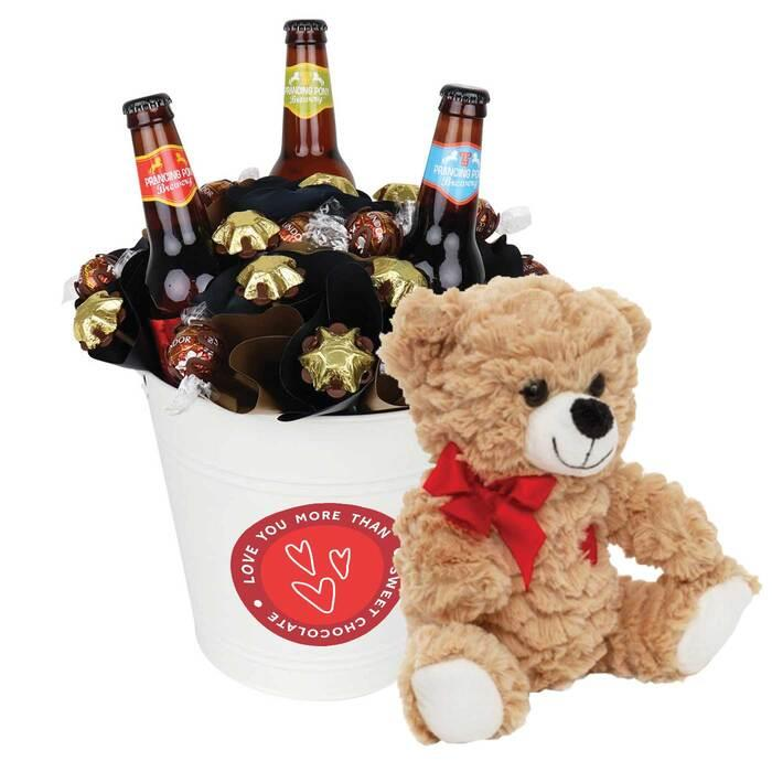 Image of Mothers Day Valentine Craft Beer Chocolate Bouquet Large
