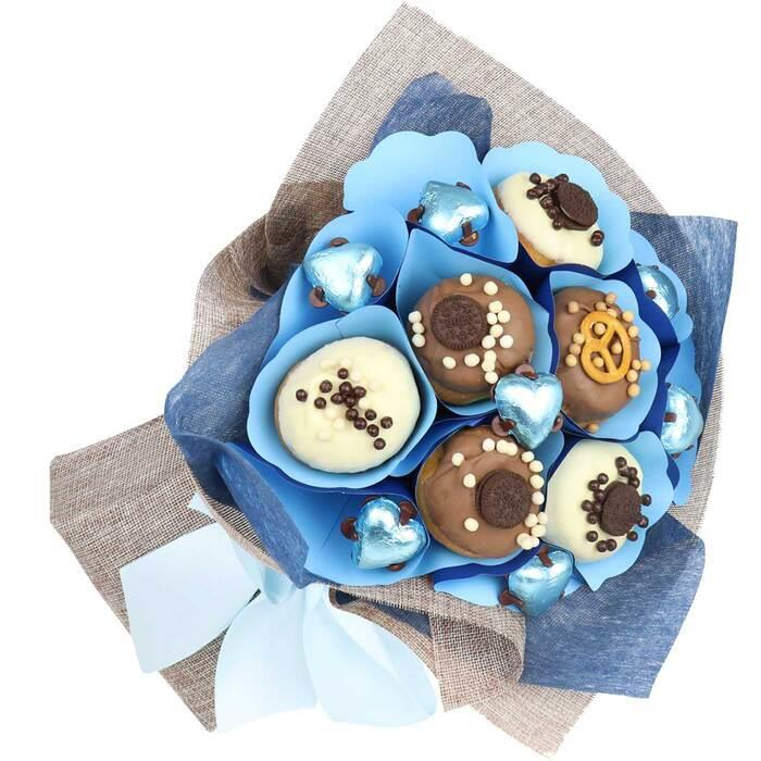 Image of Mothers Day Blue Donut Bouquet
