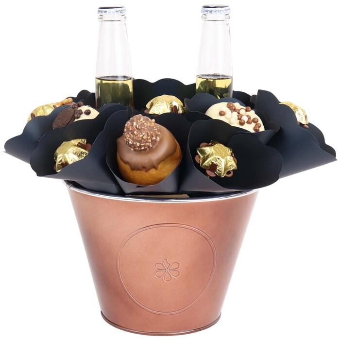 Edible Blooms : Donut & Corona Bouquet Medium
