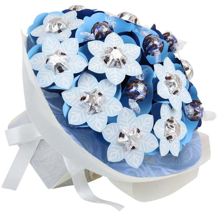 Image of Mothers Day Snowflake Christmas Flower Bouquet Grand