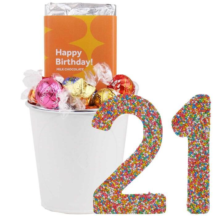 Image of Mothers Day 21 Happy Birthday Bucket