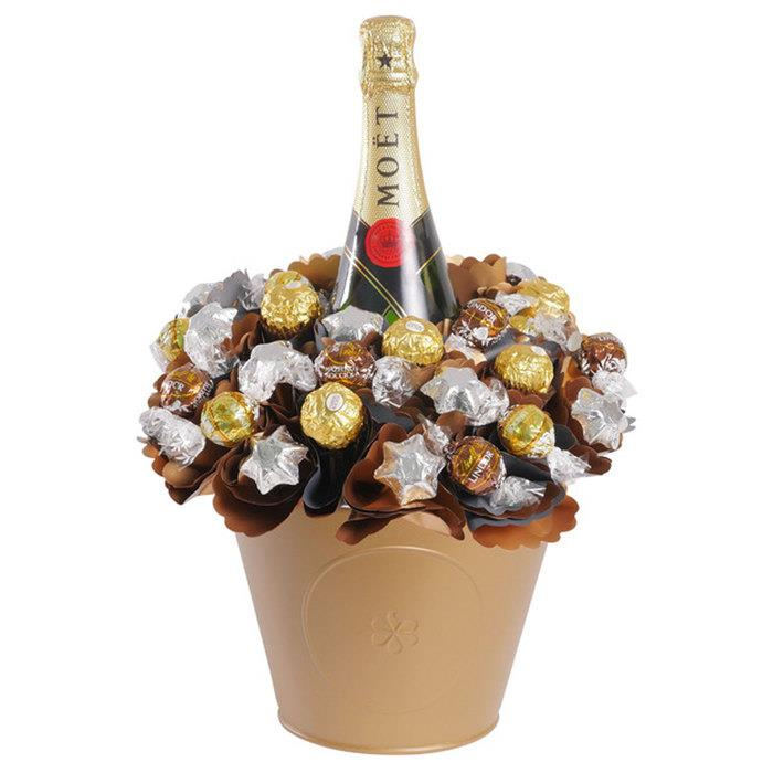 Image of Mothers Day Luxury Moet Chocolate Bouquet