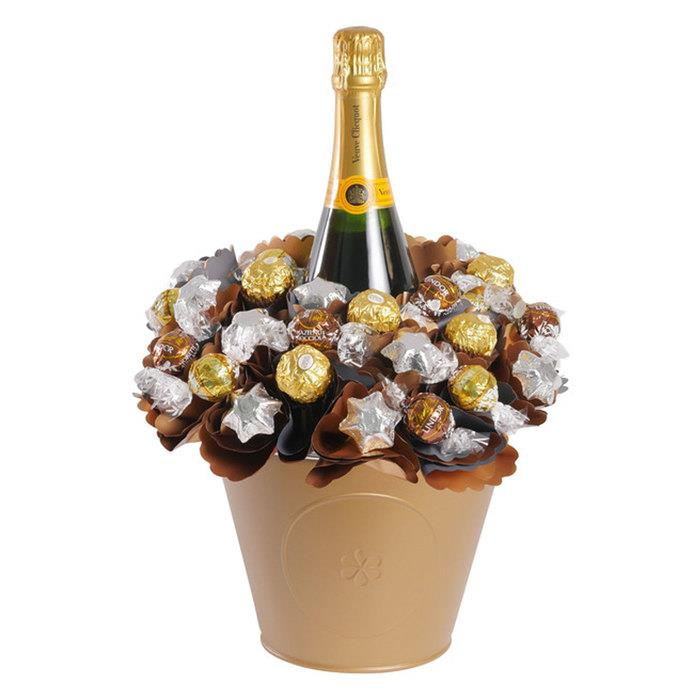 Image of Mothers Day Veuve Chocolate Arrangement Grand