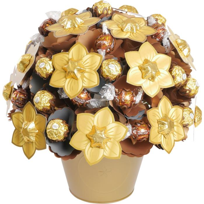 Image of Mothers Day Golden Large Chocolate Bouquet