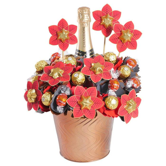 Image of Mothers Day Chandon Christmas Chocolate Arrangement Deluxe