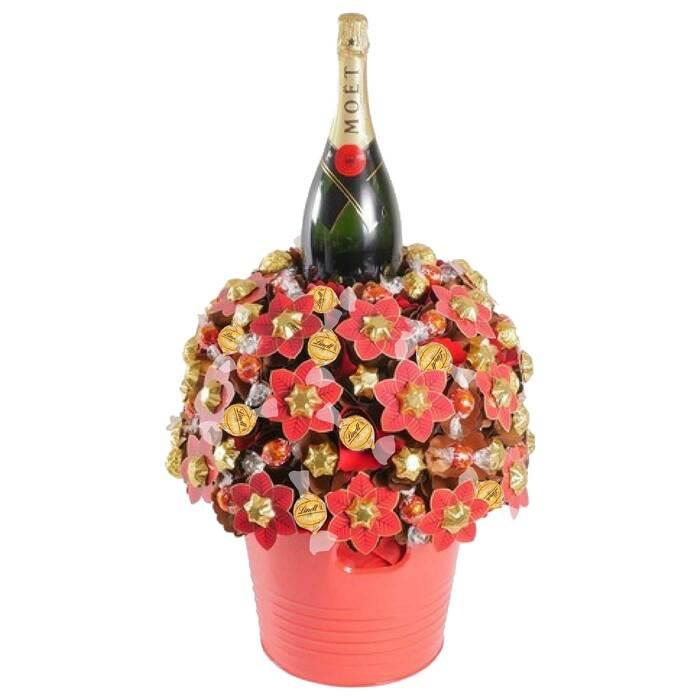 Image of Mothers Day Moet Magnum Christmas Chocolate Bouquet
