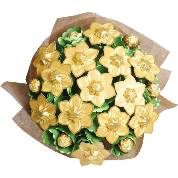 Image of Mothers Day Golden Flower Bouquet Grand